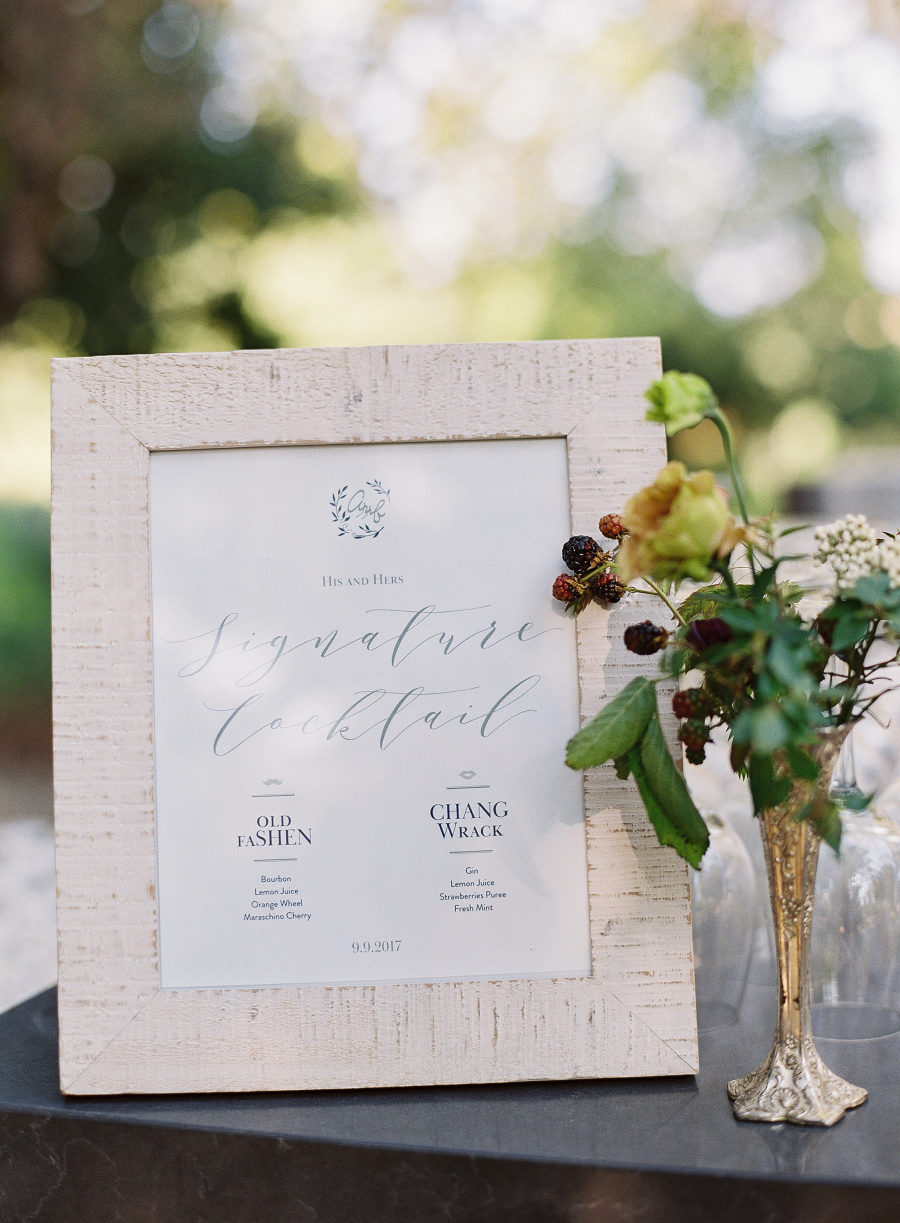 Wedding Signature Drink Menu