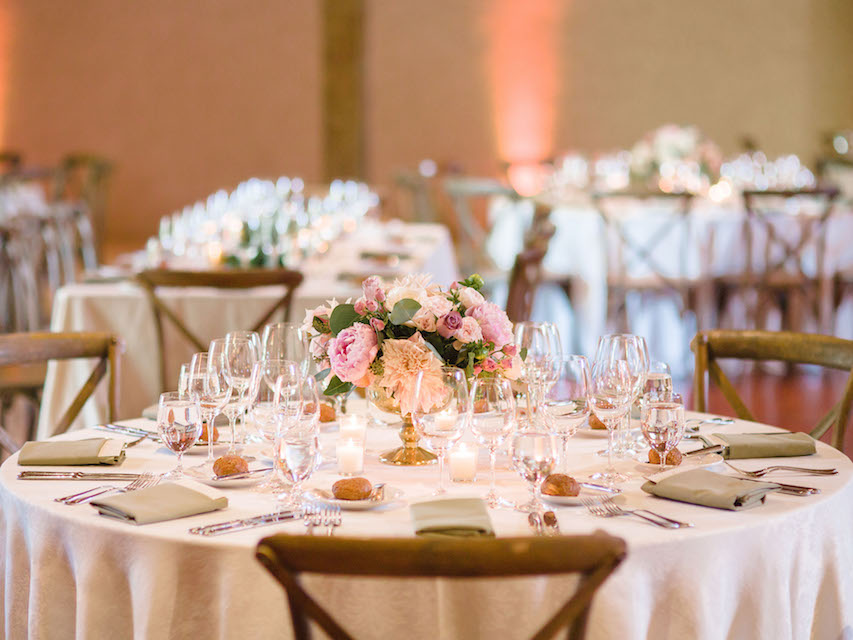 Indoor Wedding Reception Tables