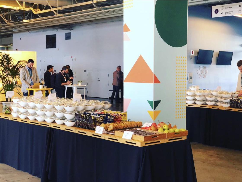 corporate event buffet