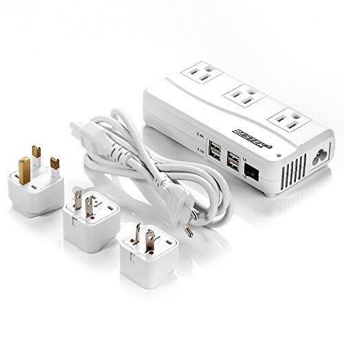 1. Universal Travel Adapter - When traveling to any foreign country, you may already know that you will need a universal adapter in order to charge your electronics. We have this BESTEK Universal Travel Adapter and it is absolutely amazing! Not only does it have a 92% conversion rate (meaning no frying your electronics) but it has 2 plugs and 4 USB ports, so you are able to charge multiple devices all at once! This is by far the BEST adapter we've EVER had and is probably the most important thing that we carry in our suitcase.