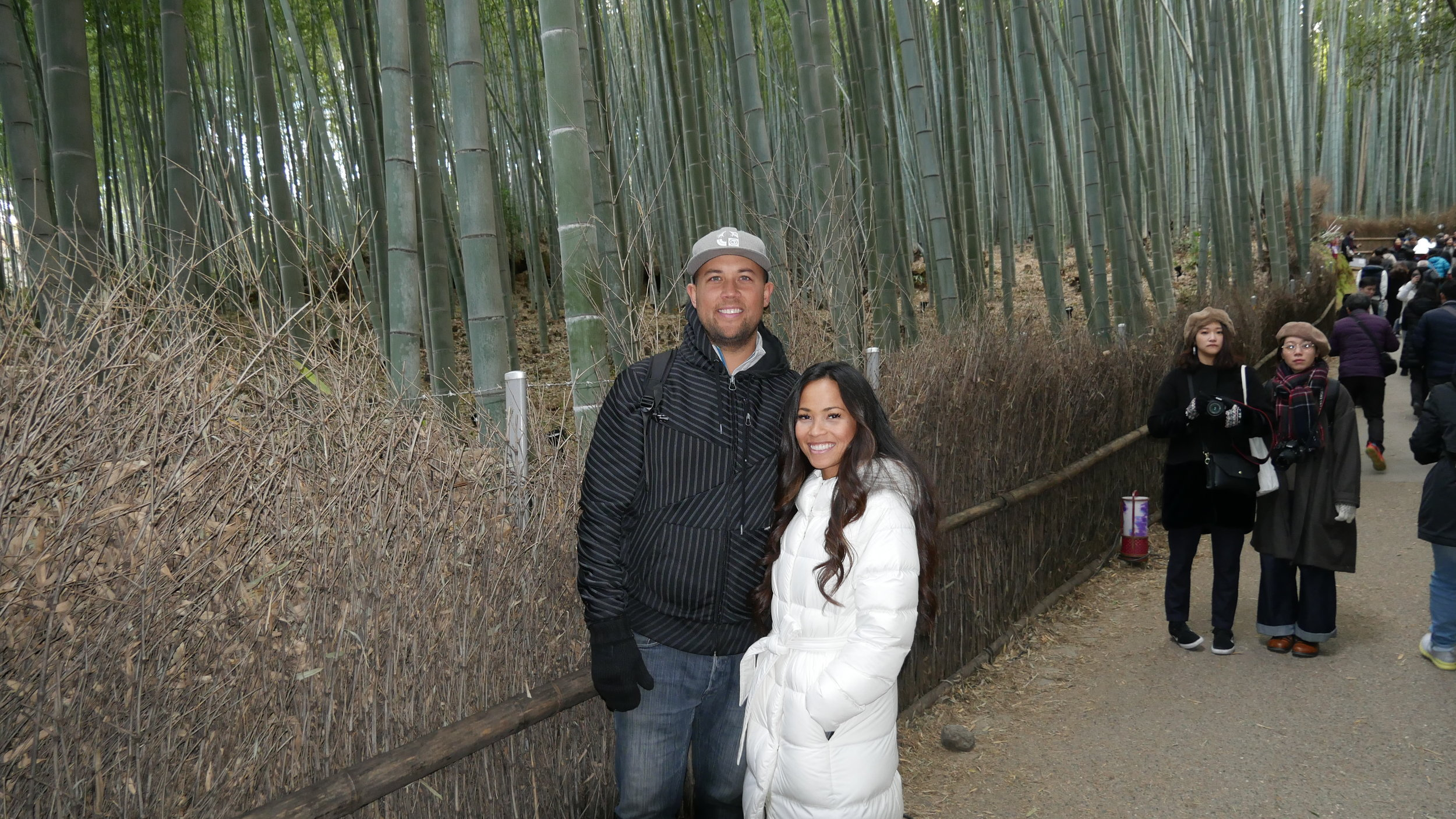 ARASHIYAMA BAMBOO FOREST - The infamous bamboo forest! Everyone has seen the pictures so of course it was something that was at the top of our Kyoto bucket list! It is just so crazy how tall and mesmerizing these bamboo trees were and it really is a beautiful quaint forest to walk through.My one and only complaint about this forest (granted we did go in the middle of the day) but it was just so busy with people. It was very hard (but not impossible) to get a picture without other fellow tourists photo-bombing.I have seen that there are other bamboo forests in Japan that are a little less busy... But if you are in the middle of Kyoto, this is free and definitely a must-see!