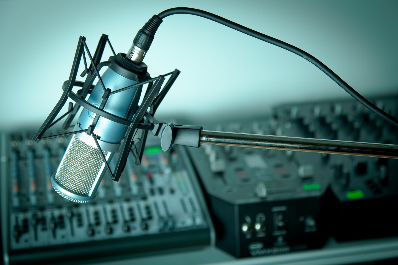 Voice over Training at the mic