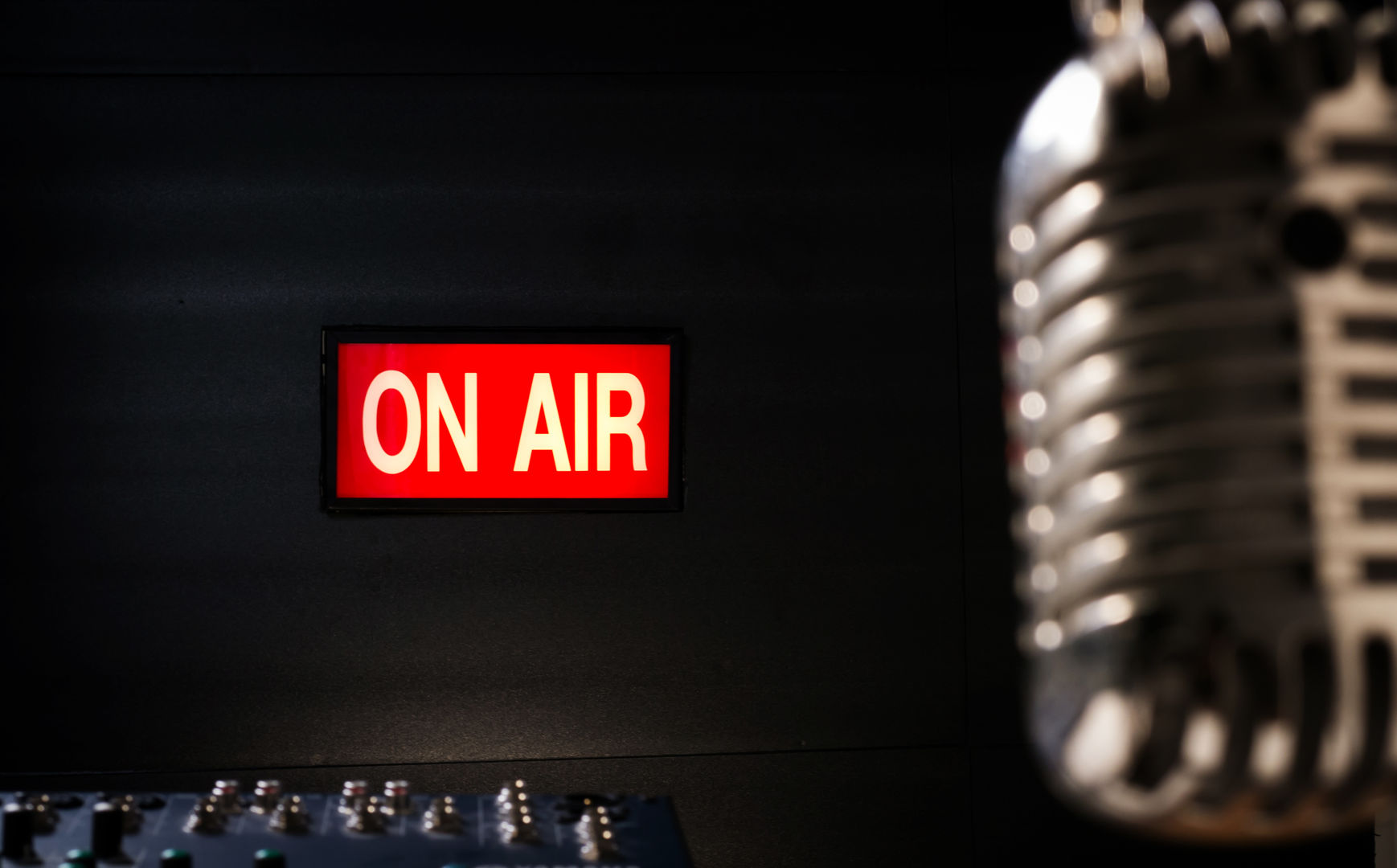Voiceover on air