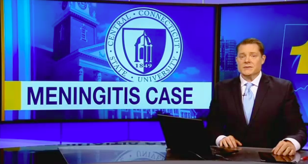 """The Connecticut Department of Public Health confirmed meningitis in at least one student at the campus in New Britain on Monday"" -"