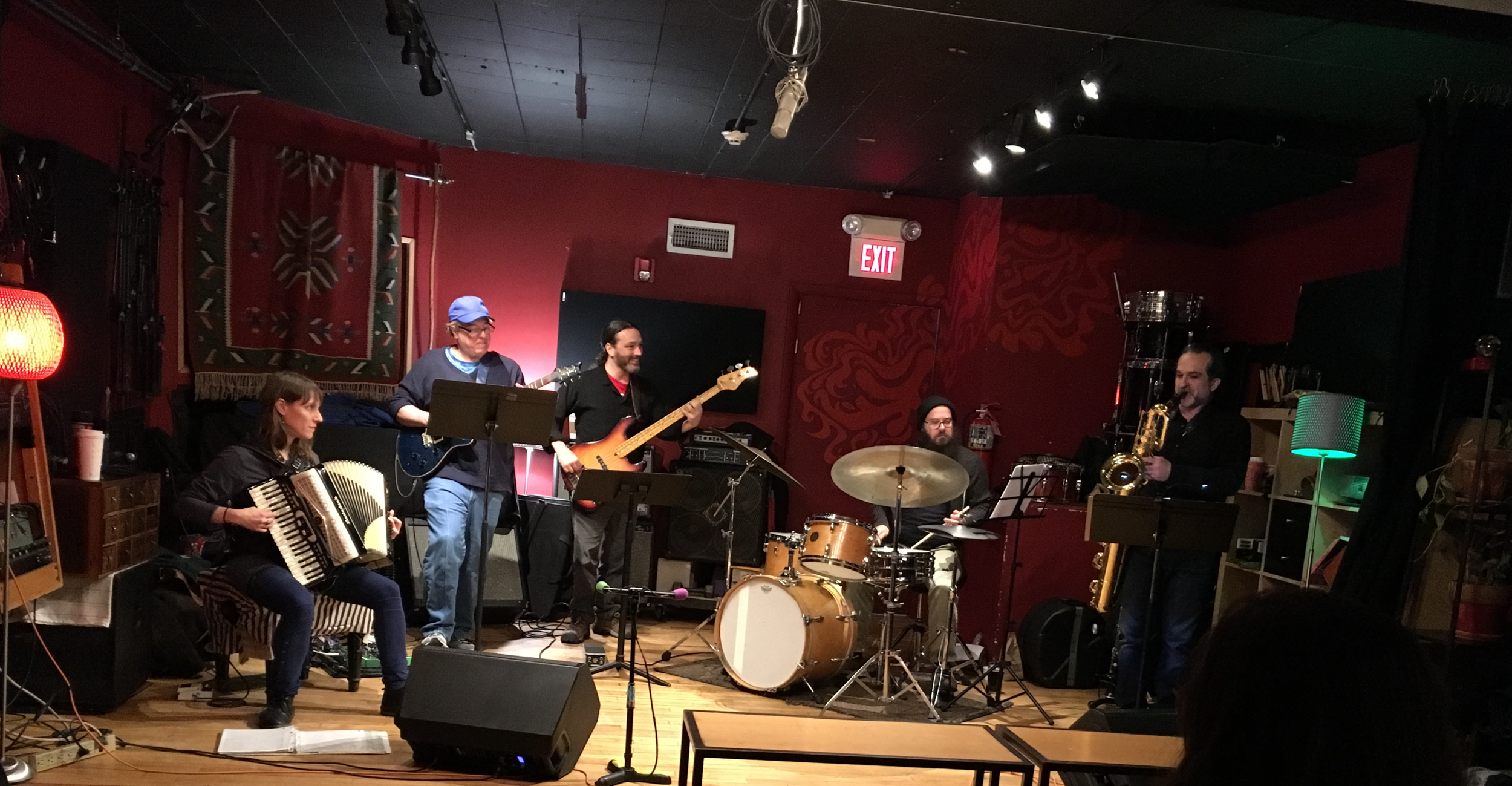 Thanks to Peter Lauria for the photo! L to R: Rachel Koppelman, Larry Mancini, Brian O'Connell, Dylan Jack, Andy Bergman.