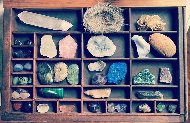 Getting organized . #crystals #minerals #naturalobjects #nesting #toolkit #toolsforhealing #lovelythings