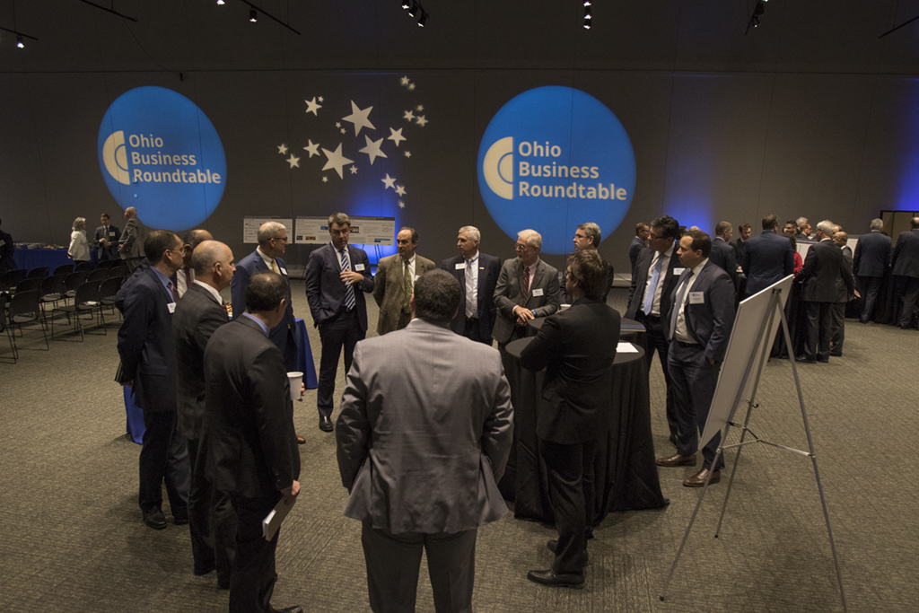 CEO members engage with each other in McKinsey-led workforce development breakout sessions.