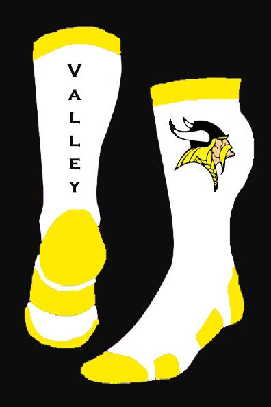 Valley Vikings White Gold Black Sock.jpg