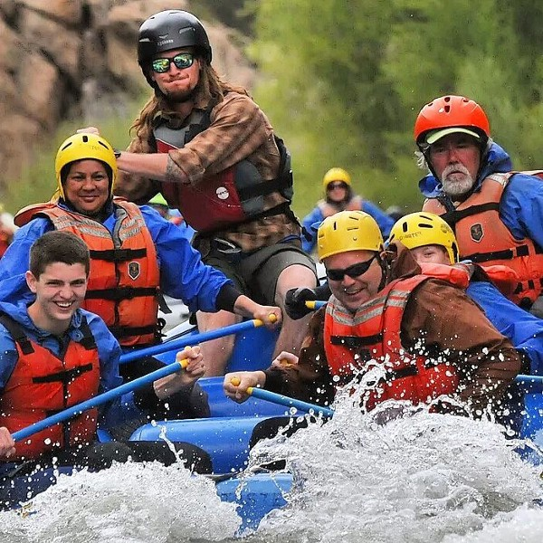 Rafting on the Arkansas River in the Rocky Mountains