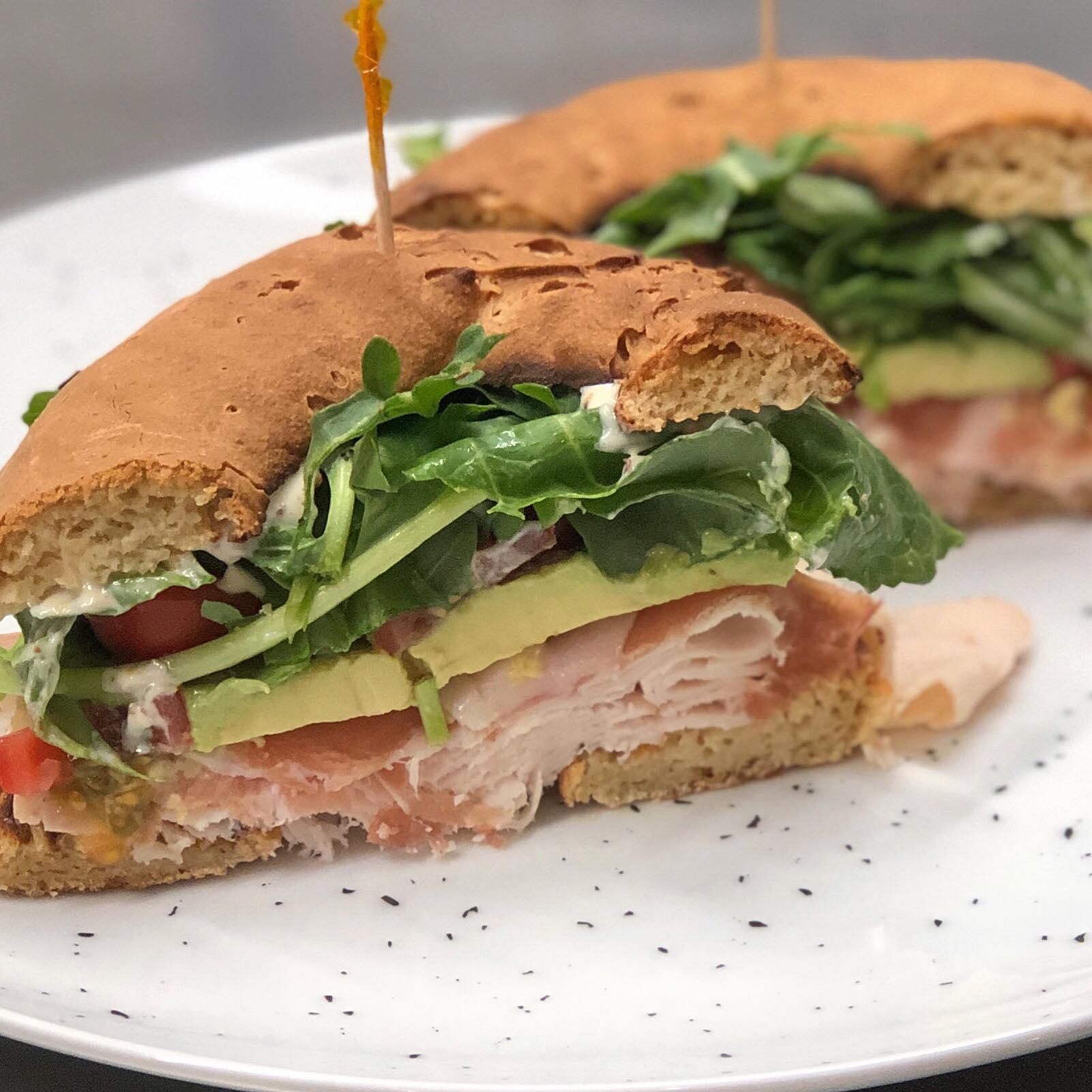 Turkey Prosciutto Bagel Sandwich