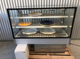 FPG Chilled Display Cabinet 3000 Series – Used/Near New   $3,950.00 + GST   10 Amp – Drop Into Counter – Plug & Play – Rear Sliding doors  Dimensions : 1200W x 700D