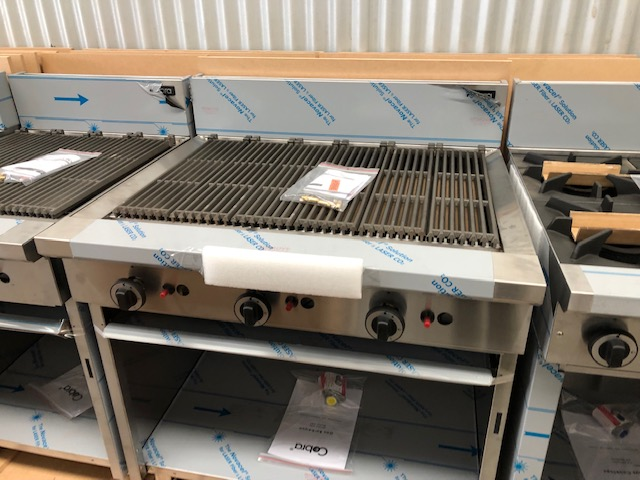 Cobra 900 Char Grill - NEW   $ 3,100.00 + GST   Outstanding Value Char Grill, Meat, Fish Poultry, Veg - Yummy Results  Dimensions : 900W x 815D x 1050H