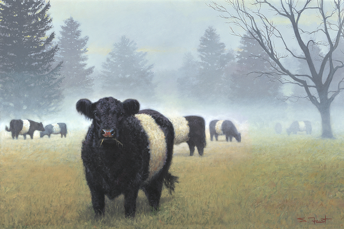 "Belties In The Mist  36""x24"" oil"