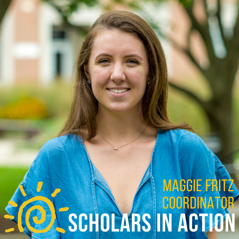 Maggie Fritz - I am an Environmental Science and Policy major with minors in Nonprofit Leadership and Social Innovation and in Sustainability. On campus, I am an intern with the Farmers Market at Maryland, a 2018-2019 Federal Fellow in the Energy and Environment program, a fitness instructor with University of Maryland RecWell, and a member of the Maryland chapter of CHAARG and of the University of Maryland Figure Skating Club. During my time in Scholars, I was the head of the Science and Global Change fundraising committee and a peer mentor. I'm ecstatic to continue my involvement with Scholars via Scholars in Action and can't wait to see the amazing opportunities to come from this initiative.