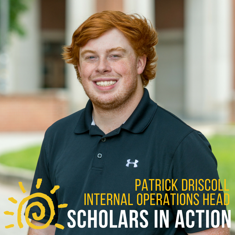 Patrick Driscoll - On campus here at UMD, I have been involved in intramural sports, a variety of clubs, and have completed research for the CATCH virus study in the Cambridge Community. I am double majoring in Finance/Operations Management and Business Analytics, minoring in Sustainability Studies, and I am a former member of the Science and Global Change Scholars Program. Last year I was in charge of the finances of the Science and Global Change Fundraising Committee, and I am excited to be able to expand my role to incorporate all of Scholars. I cannot wait to get to work, handle the financial responsibilities of our intuitive, and really give back to our surrounding community.