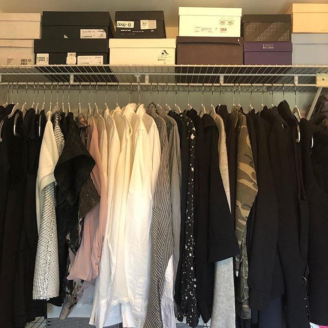 Plastic is not only horrible for the environment, it's awful for our closets too!  This closet received a total makeover- we're walk in ready now! . . . . . #spacelift #organized  #modernliving #easyliving #simplify #declutter #homesweethome #interiors #neatandtidy #harteyourhome #walkin #lineduplife #closetorganization #closetgoals #walkinswelcome #plasticfree #shoes👠  #closetvibes