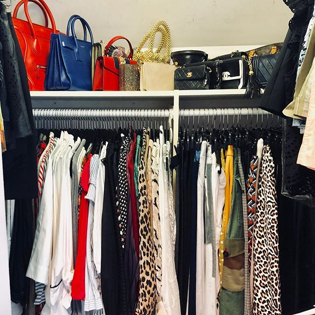 Adorn your closet with your most prized possessions! ❤️ . . . . . #spacelift #organized #luxurydesign #modernliving #designideas  #easyliving #simplify #declutter #homesweethome #interiors #inspo #decor #design #homedecor #style #neatandtidy #harteyourhome #walkin #lineduplife #handbags #handbagaddict