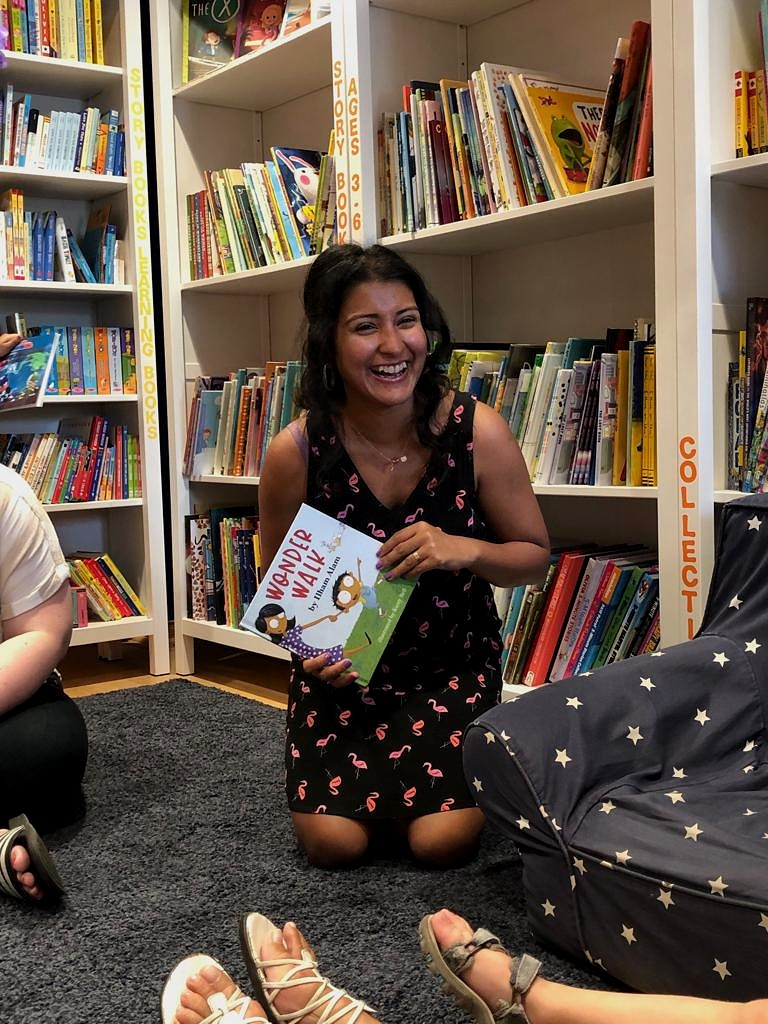 Storytime at MoonBeam Books. My first-ever Storytime reading