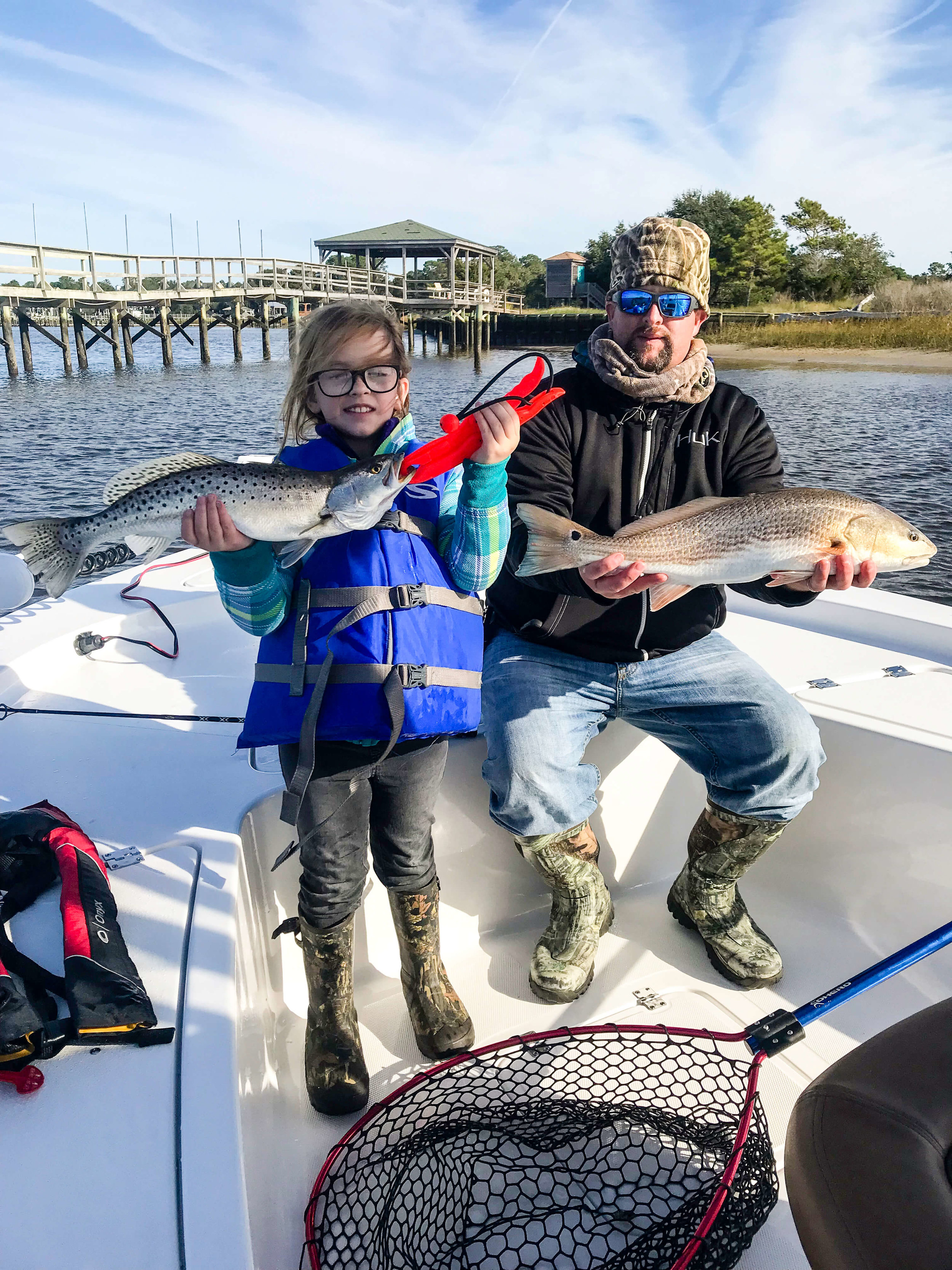 Fun for Kids and Families! - At Rip N Lips Charters we love to share the love of fishing with kids and families! Half Day Fishing Trips last up to 6 hours!$550 for up to 4 peopleLife vests in all sizes are available!25' Tidewater Carolina Bay BoatLicensed Captain Ray DixonALSO INCLUDED:All Safety Equipment Including Life VestsFishing RodsBait & TackleBook your trip! ➝