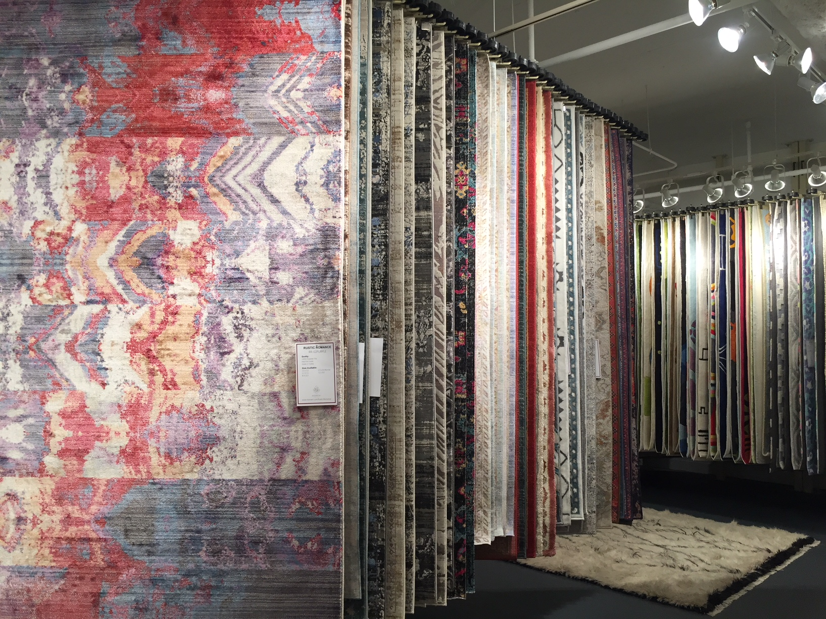 Photo: Rug showroom, by Michaela Satterfield.