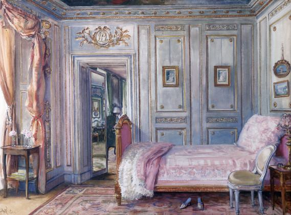 Photo: Design by Elsie de Wolfe, from https://commons.wikimedia.org/wiki/File:La_Chambre_de_Lady_Mendl,_Elsie_De_Wolfe.jpg