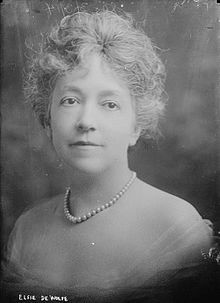 Photo: Elsie de Wolfe, from https://en.wikipedia.org/wiki/Elsie_de_Wolfe