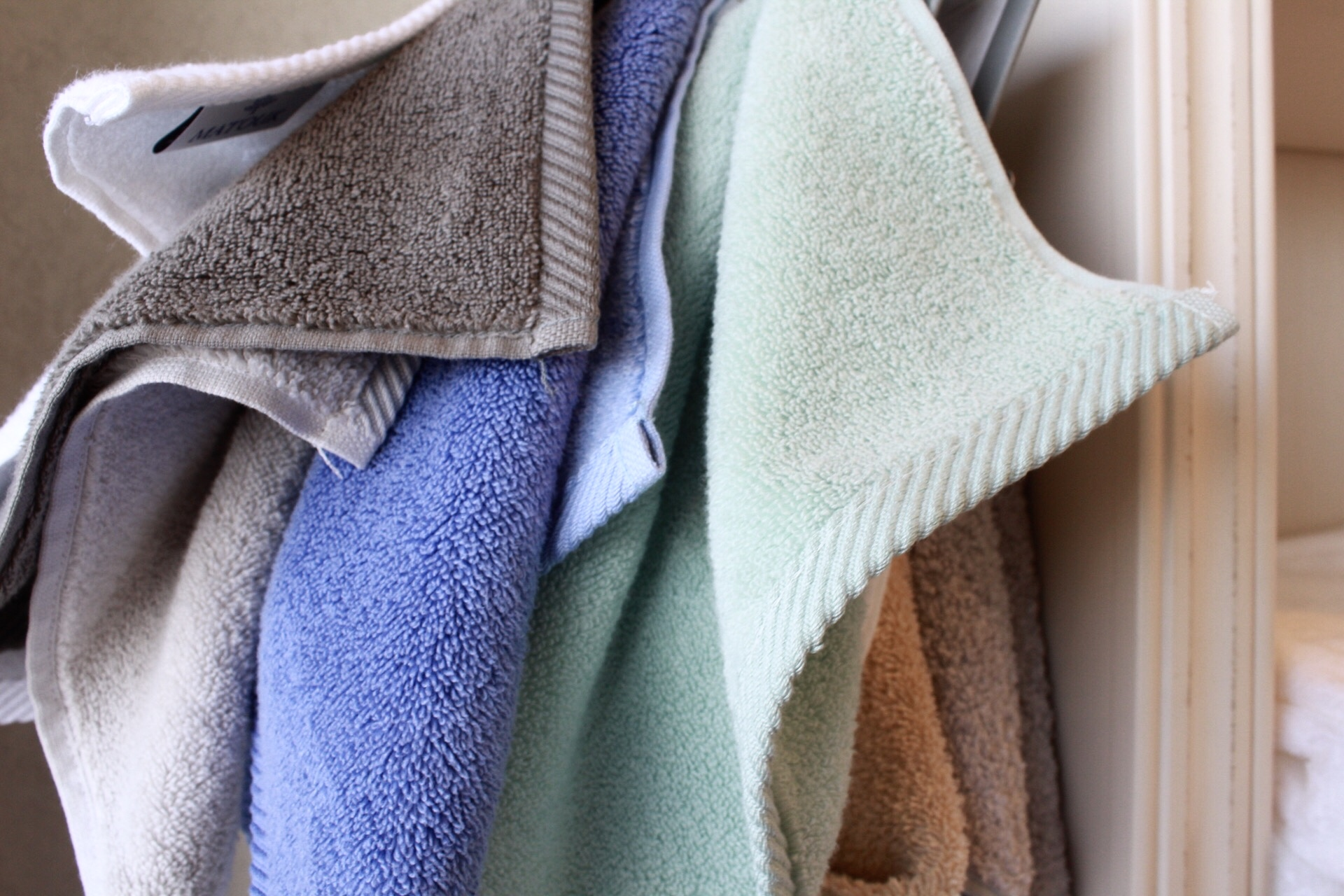 Washcloths are a fun way to add a pop of color.