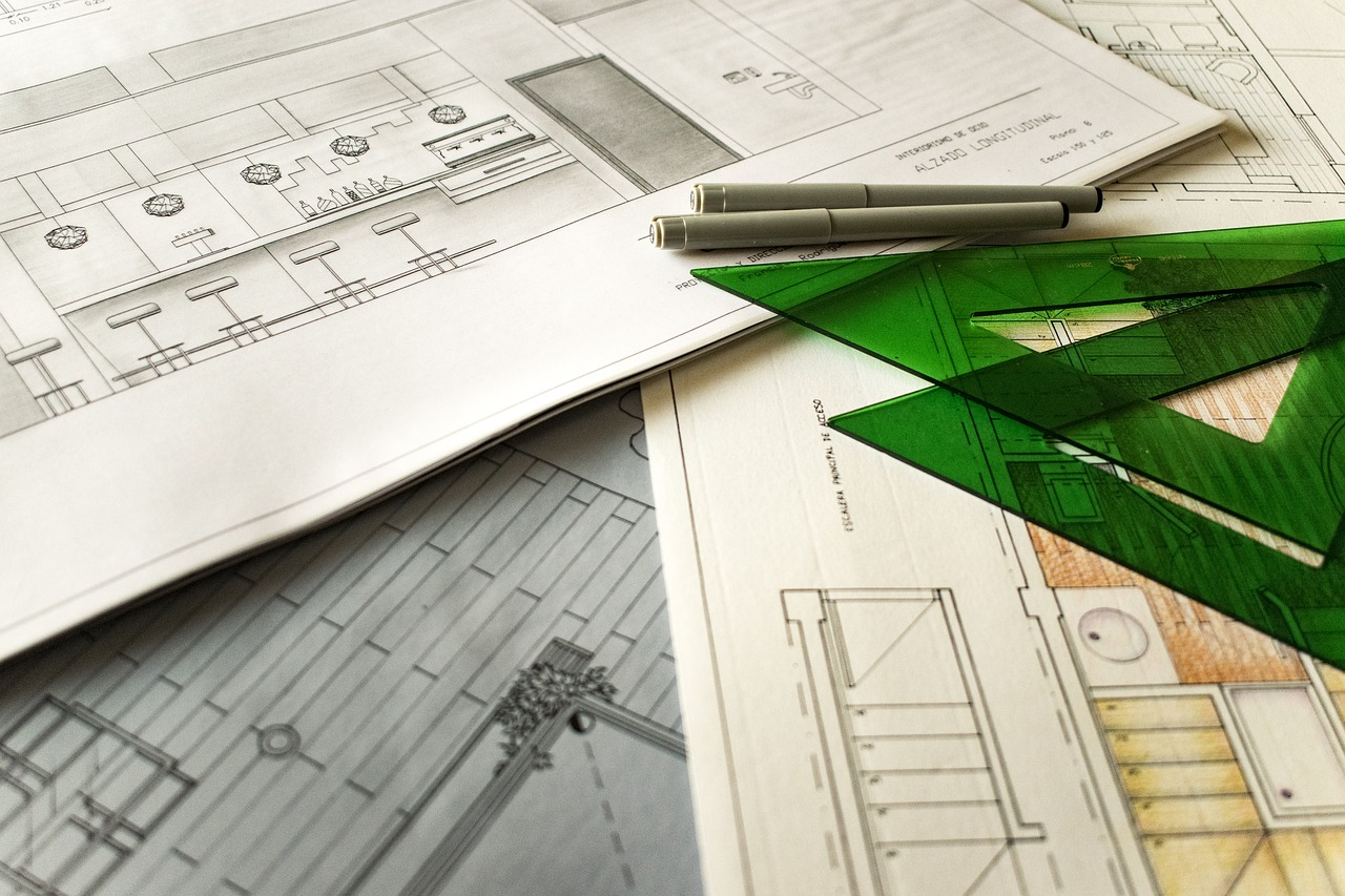 Photo: Hand sketches, from https://www.needpix.com/photo/856996/technical-drawing-architecture-project-rules-autocad-scale-work-interior-design