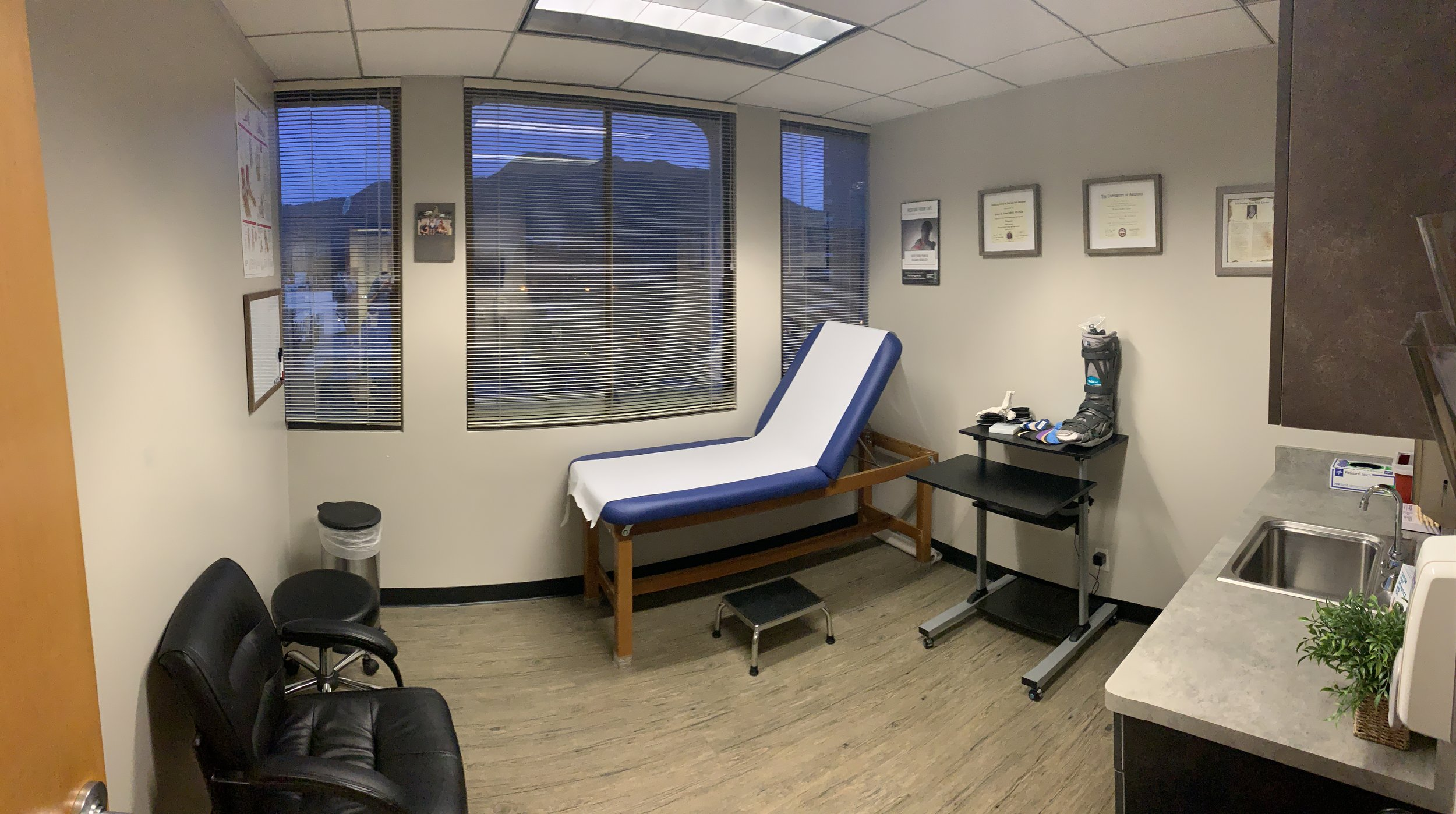 Dr. Levine's clinic room