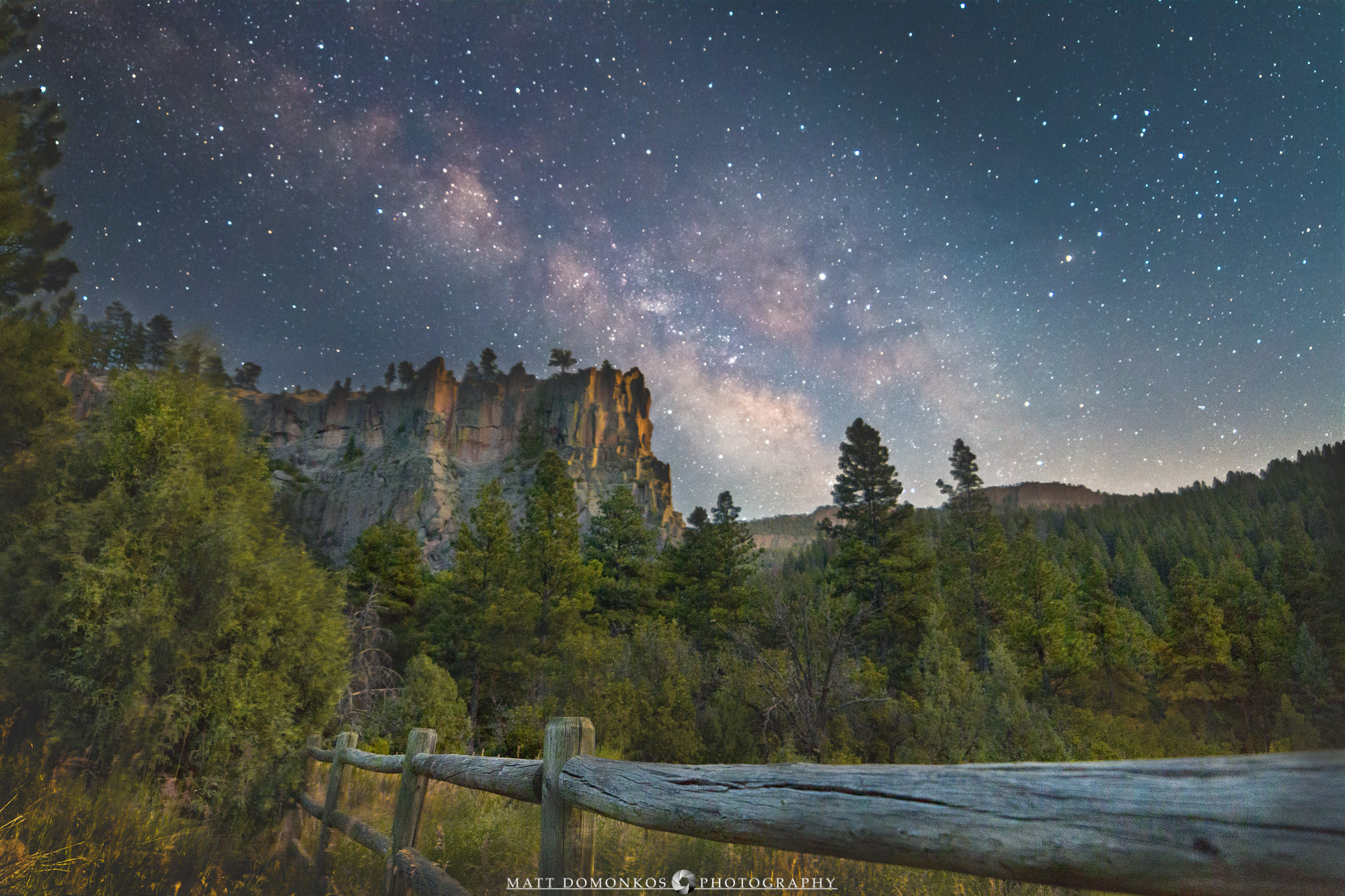 Originally shot in 2017, I reworked this with my current workflow, creating an image with better clarity throughout the image and reduced noise in the sky. The trip to Battleship Rock involved my father and my sons. Since the shoot took about 3 hours waiting for the Milky Way to rise, I feel pretty fortunate my tag-alongs tolerated the wait. Still, when they see the image, they get to brag that they were there!   The moon and blue hour lighting ensured that the landscapes would blend from the well-lit blue hour to the faintly lit moonset. And the Milky Way just did it's Milky Way thing. A few frames taken about a minute a part were still enough to filter the sky by stacking. Made from 8 light frames (captured with a Canon camera) by Starry Landscape Stacker 1.6.4. Algorithm: Median.   Cheers!  And the original for comparison…