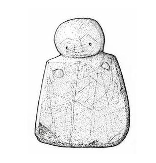 'Westray Wife'. Woman of Westray stone figurine, 3000 BCE, Isle of Westray, Orkney