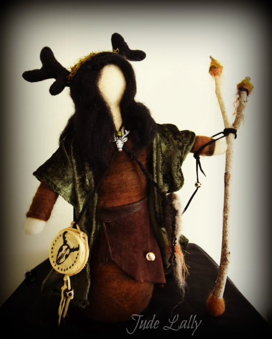 She Who Runs With the Herds. Doll by Jude Lally