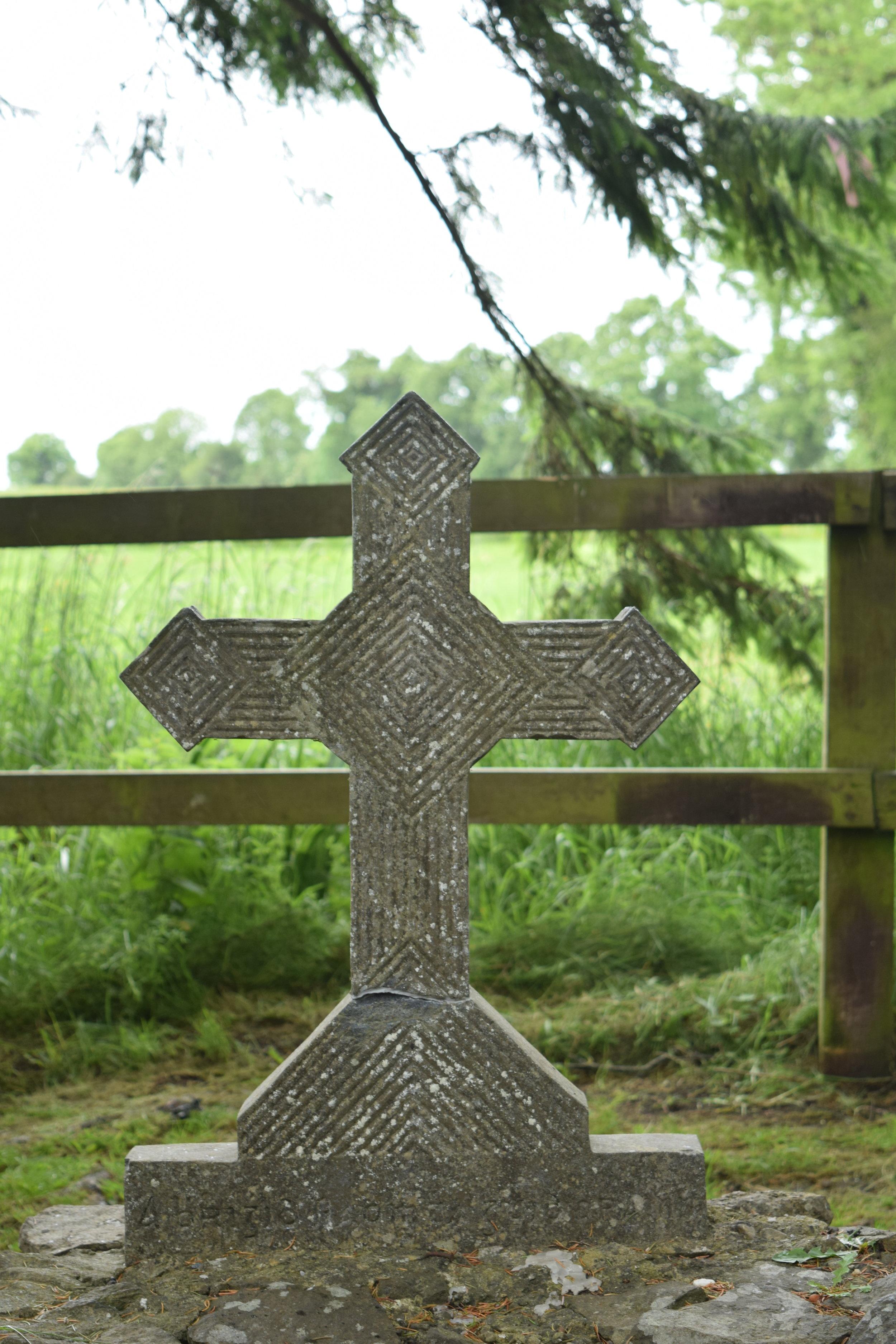 Cross by well.JPG