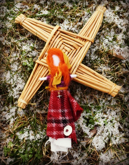 Brideog Doll with Brighid's Cross