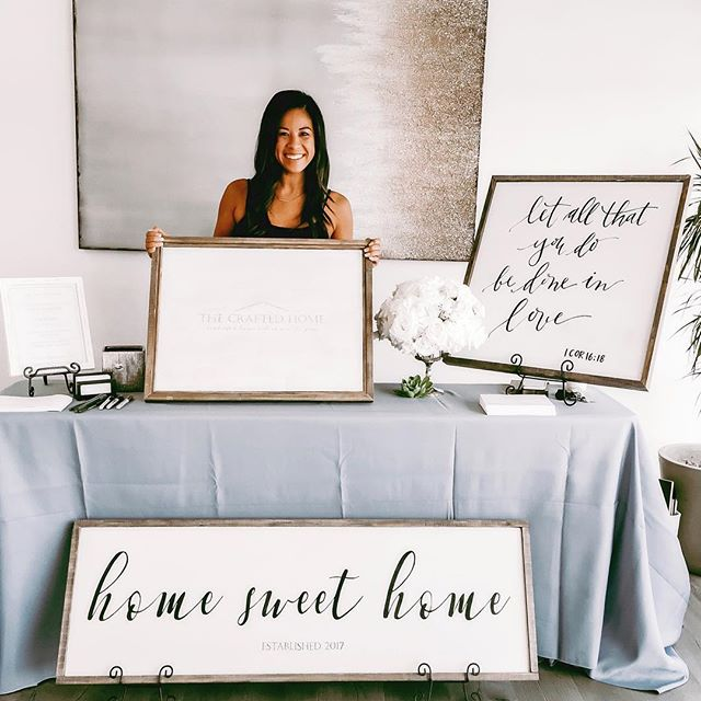 Truth is: Without being invited to take part in this Bridal Show last year, I don't know if @craftedhomedesigns would exist yet 😱 Latest blog post is up    How 1 decision, saying yes and 6 days later brought me to now (link in bio) 💛