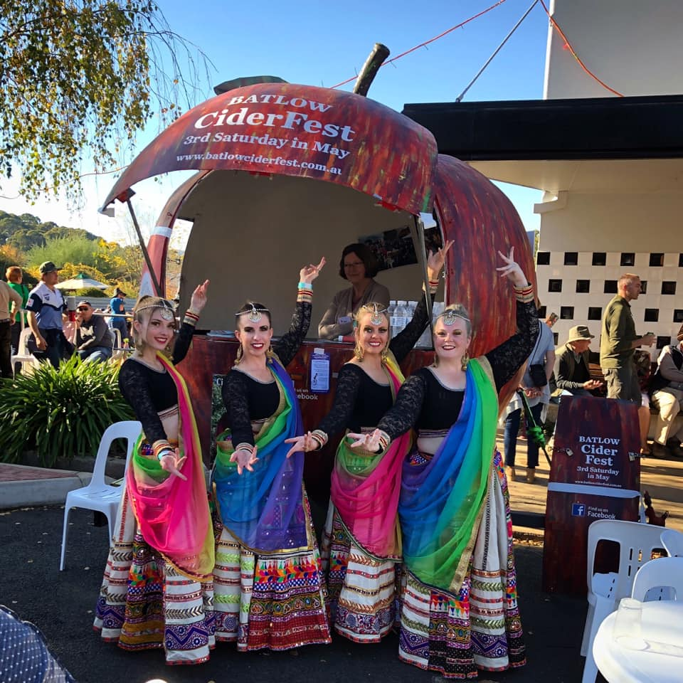 Cootamundra Bollywood All Stars, at Batlow CiderFest 2019  Photo Credit:   @cootabollywood