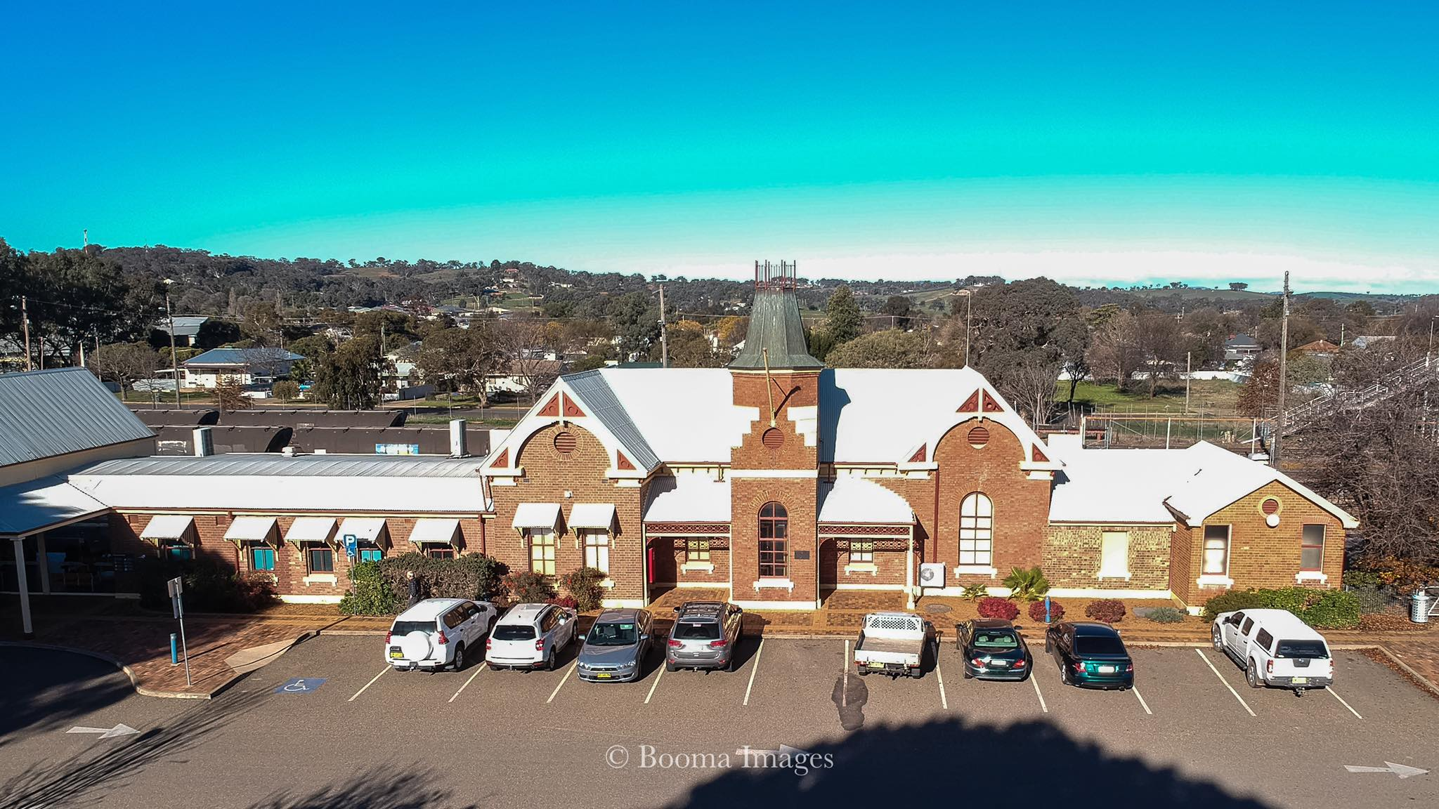 Sky view of Cootamundra Railway Station  Photo Credit:   Anthony lynch, Booma Images