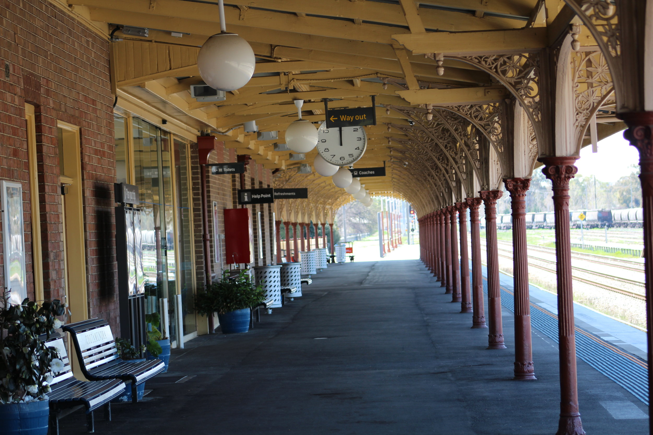 Cootamundra Railway Station platform  Photo Credit:  Jessie-Lee Waite