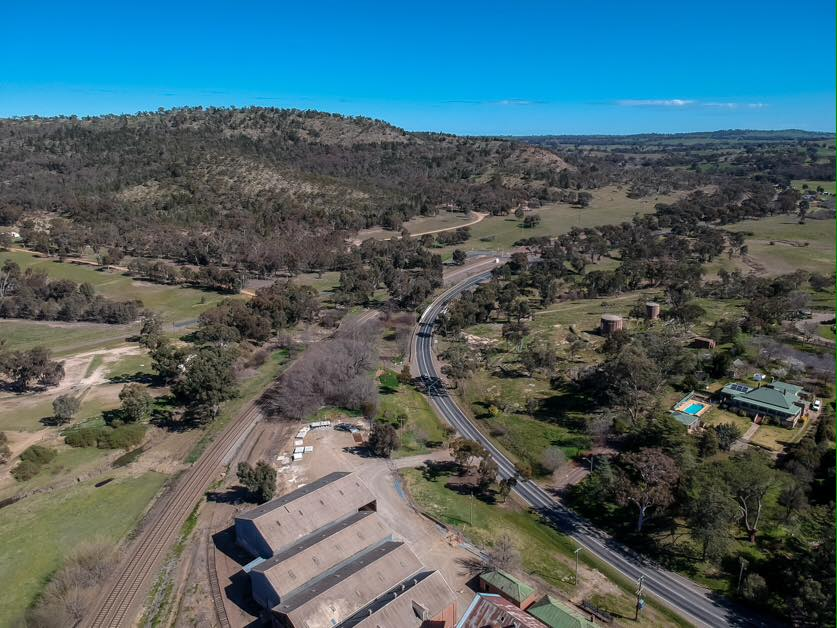 Overlooking the Flour Mill, heading to Bethungra  Photo Credit:  Anthony Lynch