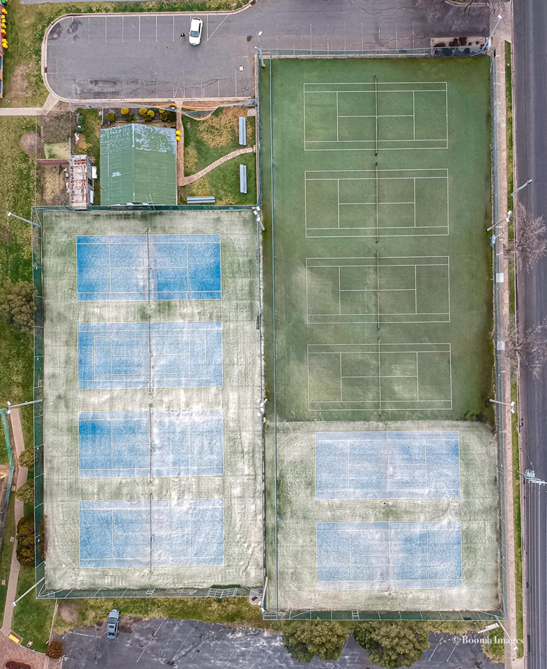 Cootamundra Tennis Courts from above  Photo Credit:   Anthony Lynch