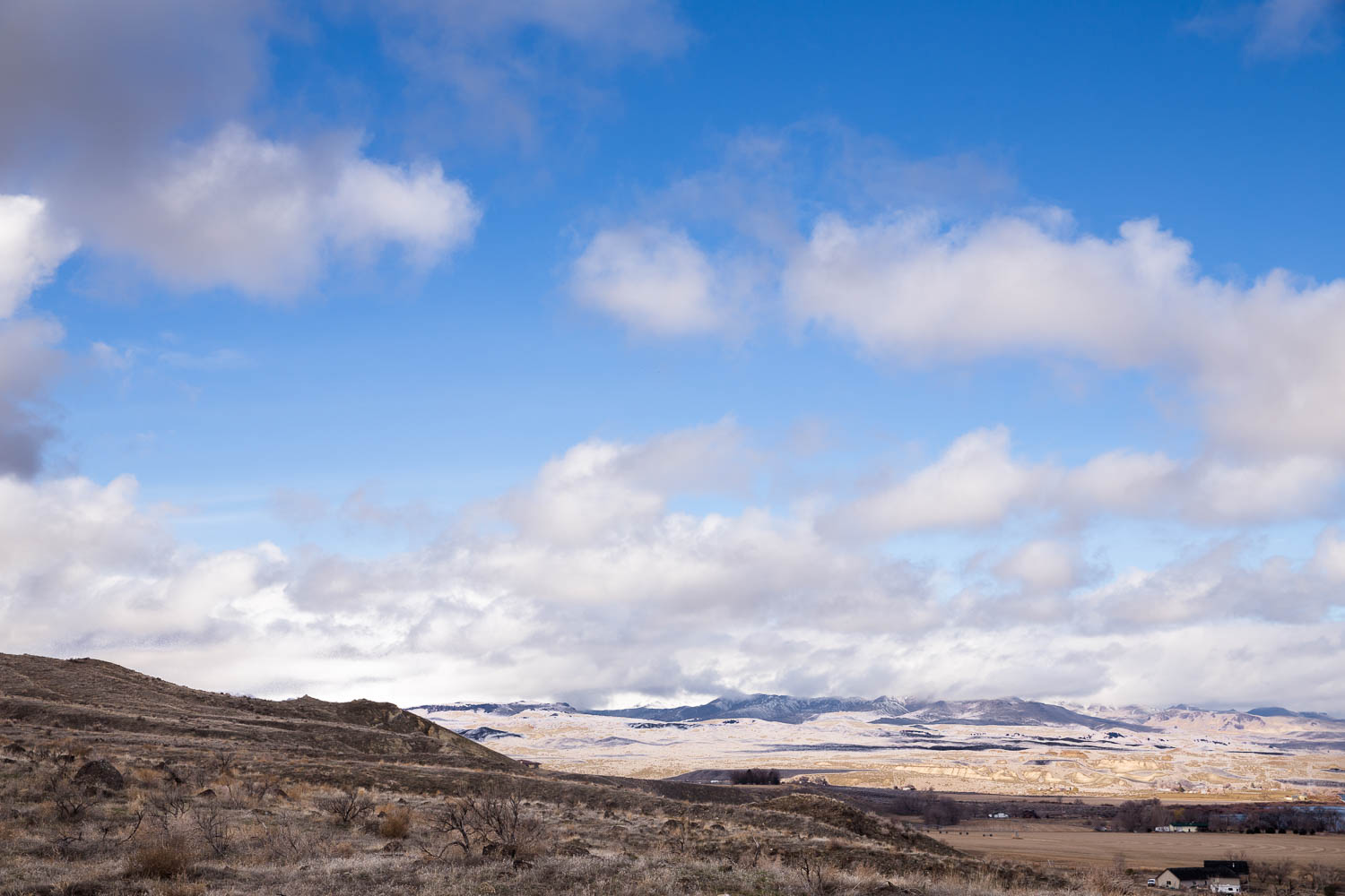 Picture of the view at Celebration Park Owyhee Mountain Range