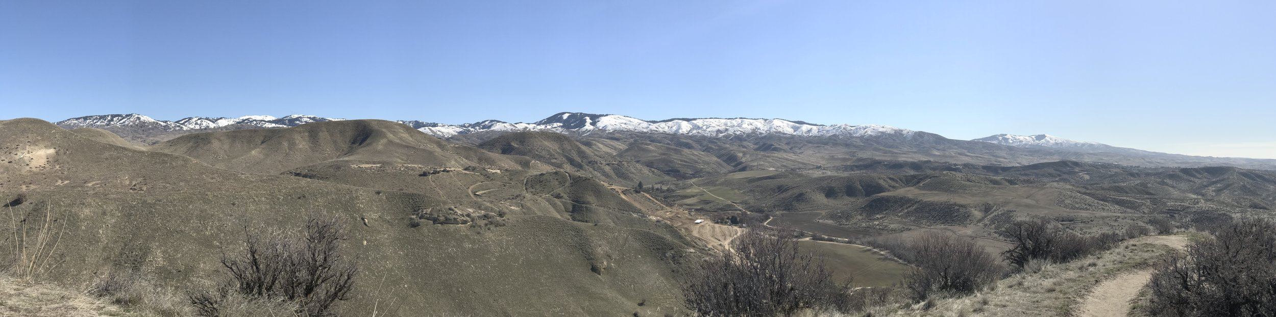 View of Boise Foothills from the Polecat Trail Loop