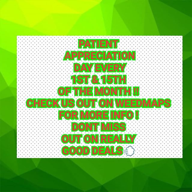 Patient Appreciation Day every 1st and 15th mark yljr calanders!