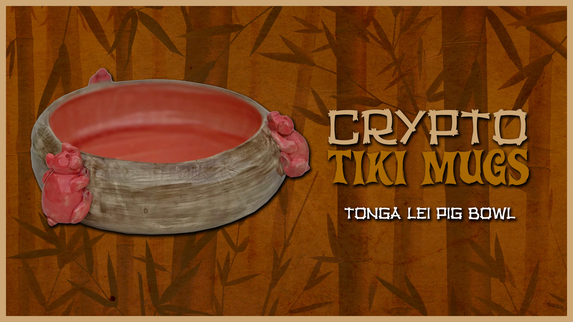 Tonga Lei Pig Bowl
