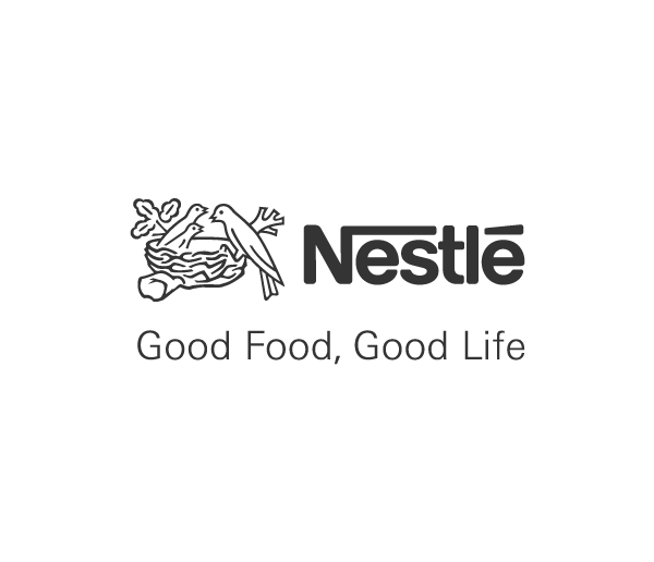 Nestle logo in black and white.