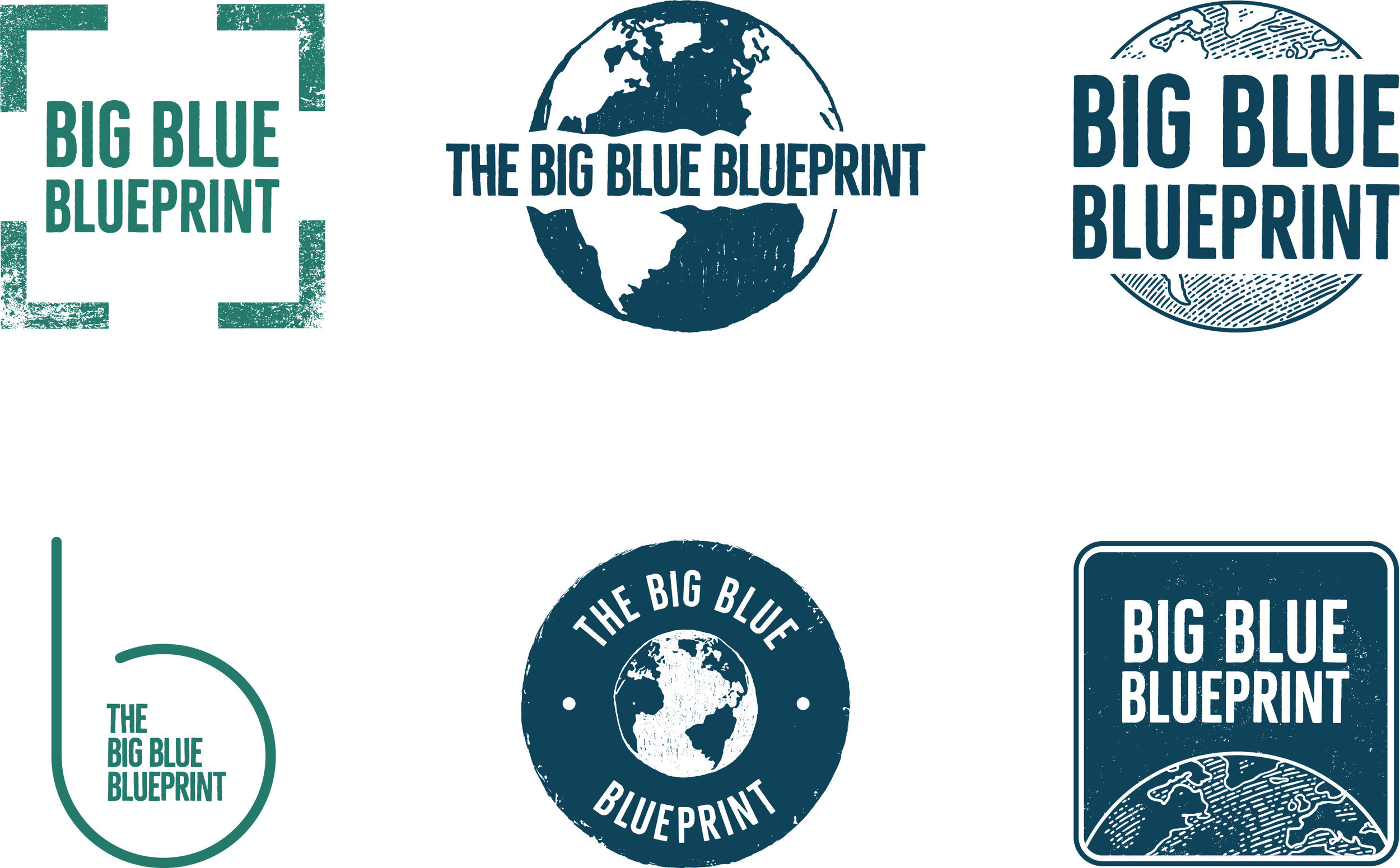 Some of the logos we created for The Big Blue Blueprint