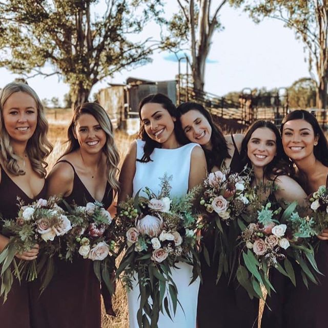 Had the complete pleasure of being a part of this bride's special day ✨ #togetherforgoode . . . . . . . #brokensw #winecountry #countrywedding #vineyardwedding #protea #roses #nativeflowers #nsw #bride #bridesmaides #bridalbouquet #weddingflorist #weddingflowers #eventflorist #eventflowers #huntervalley #huntervalleywedding #huntervalleyflorist