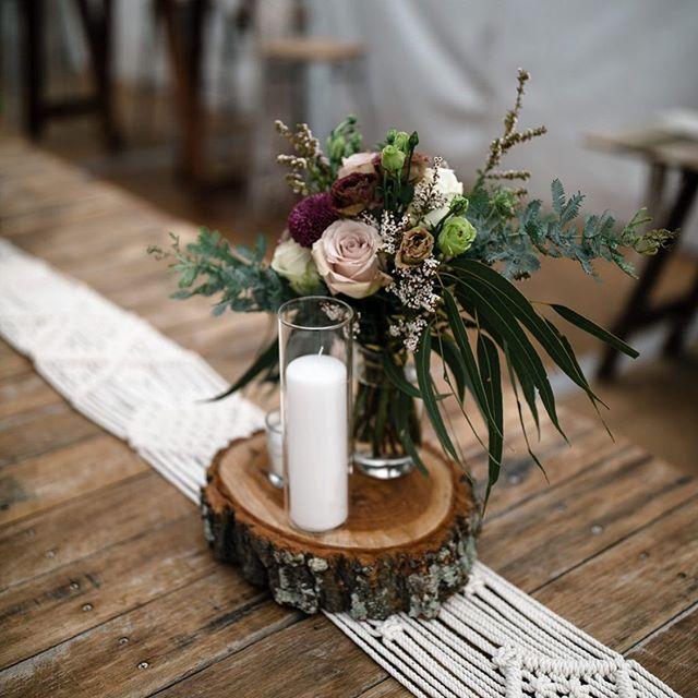 It's all in the details ✨ . . . . . . . . #floraldesign #floralstylist #florist #flowers #flowersoftheday #flowersofinstagram #wedding #winterwedding #winterflowers #australiannativeflowers #protea #roses #quicksandroses #plum #mauve #burgundy #gum