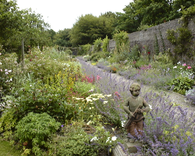2001 – MAIN BORDERS IN FULL BLOOM AND NEW GRAVEL PATH