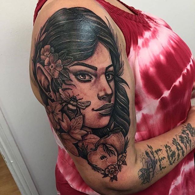 Elf girl cover up by @emmamarietattoo #tattoosofinsta #hypetattoo